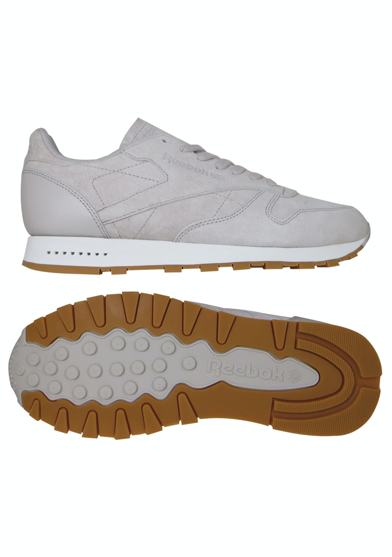 88758e1c973cb2 Reebok Unisex - Classic Leather Sg Sand Stone Chalk-Gum - Shoes Outlet -  Onceit