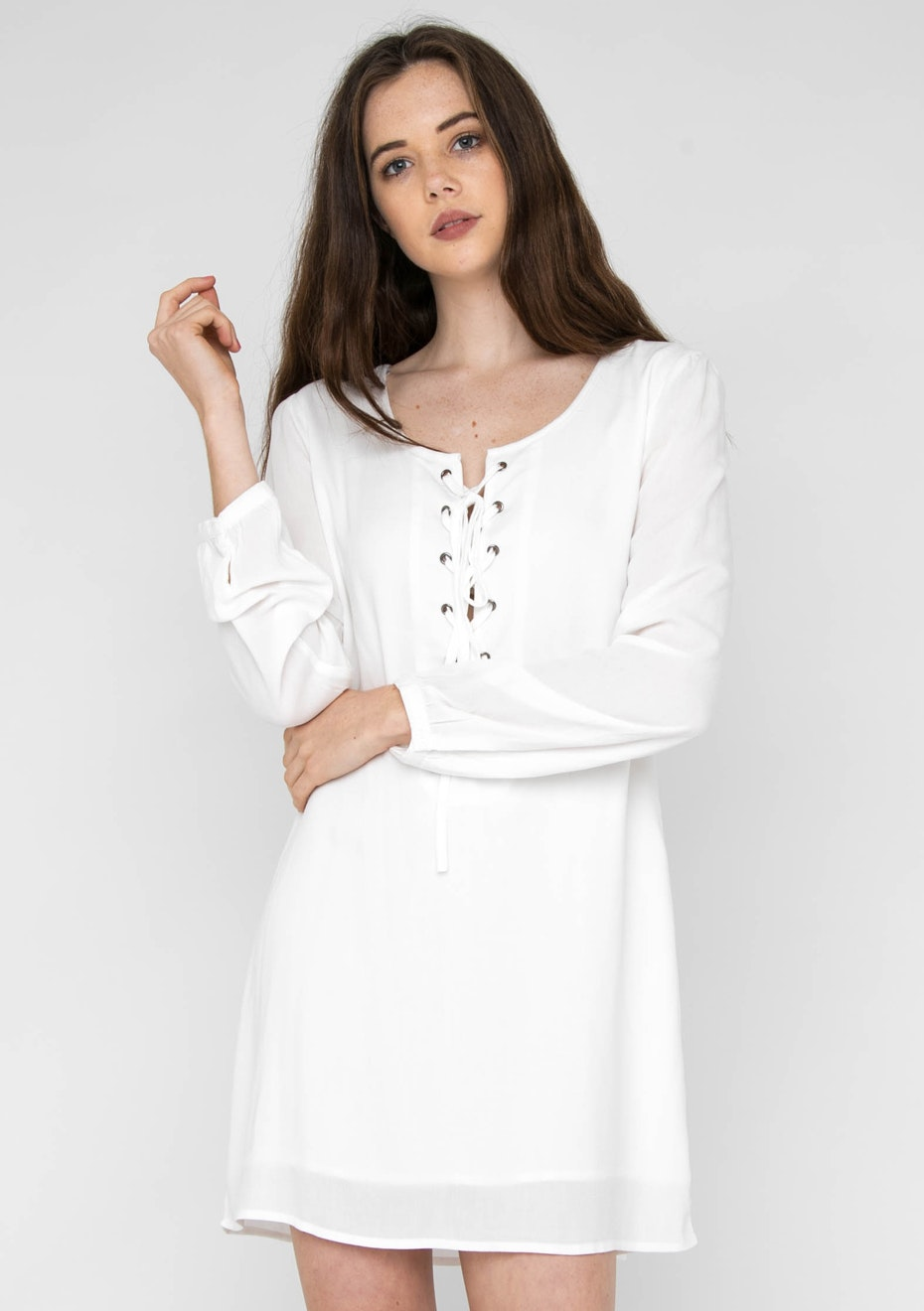 Jorge - Tied Up Dress - Antique White
