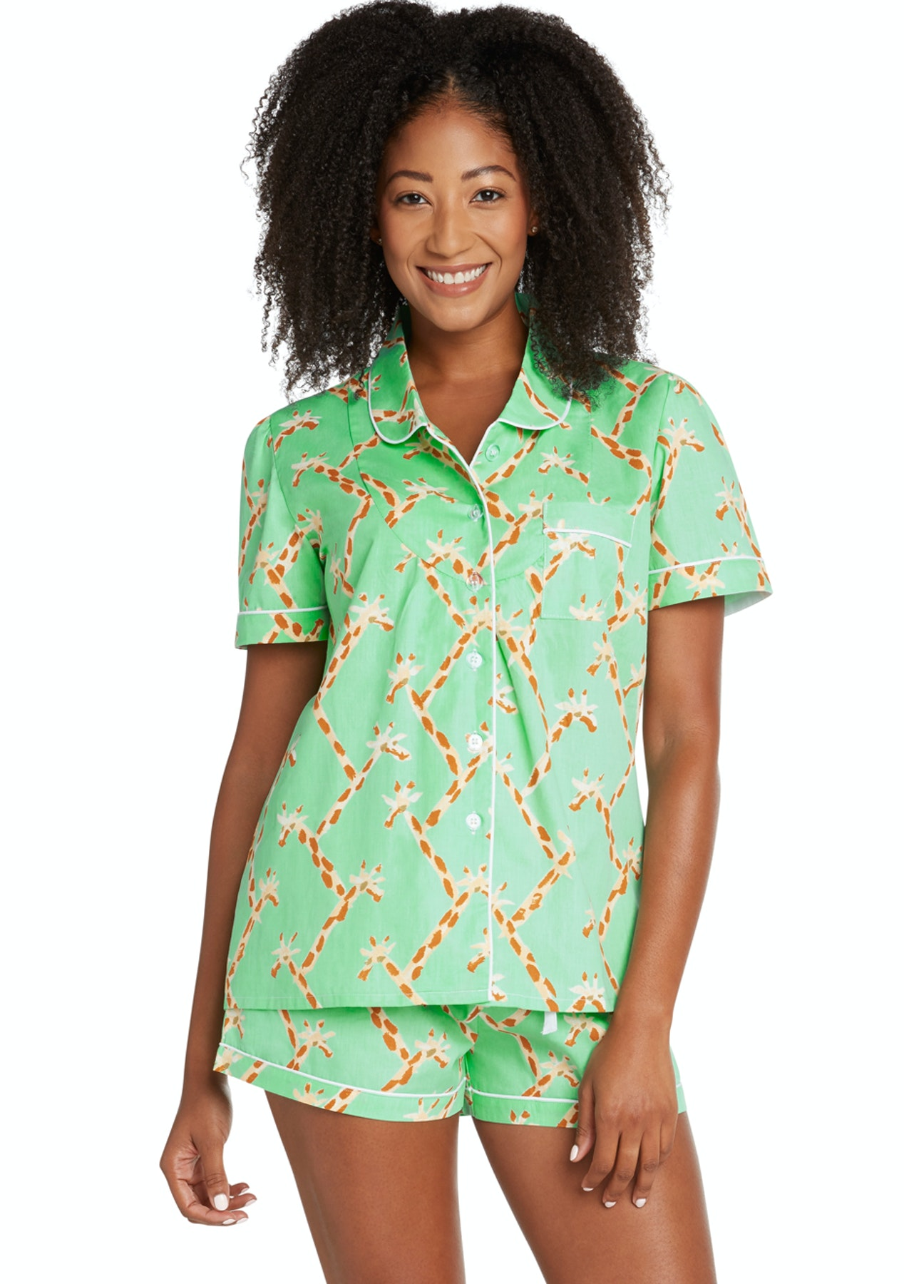 62014610d647 Sant   Abel - Women - Long Sleeve Shirt   PJ Pant Set - Giraffe ...