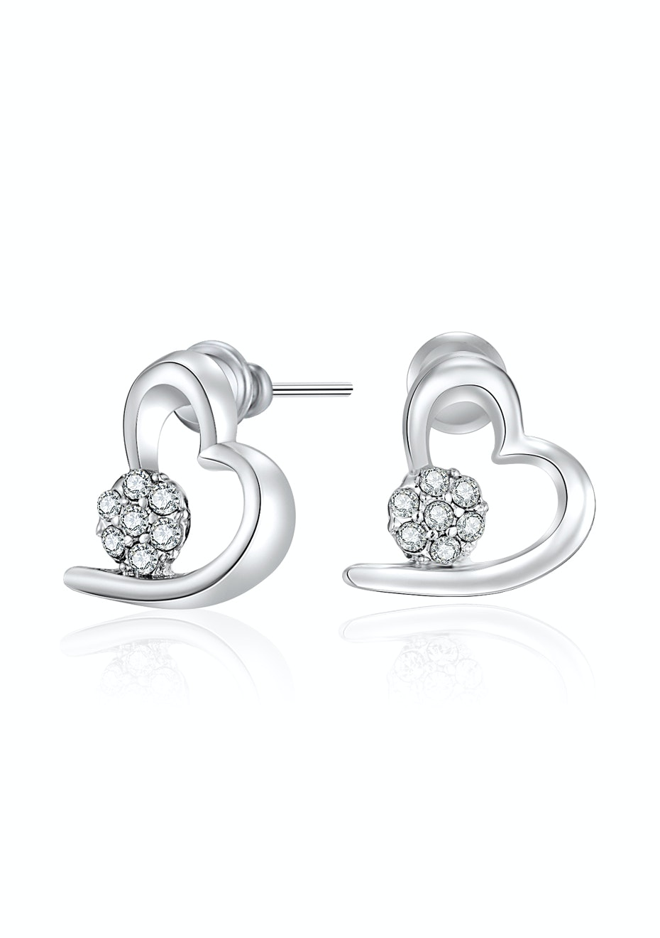 Heart earrings Embellished with Crystals from Swarovski