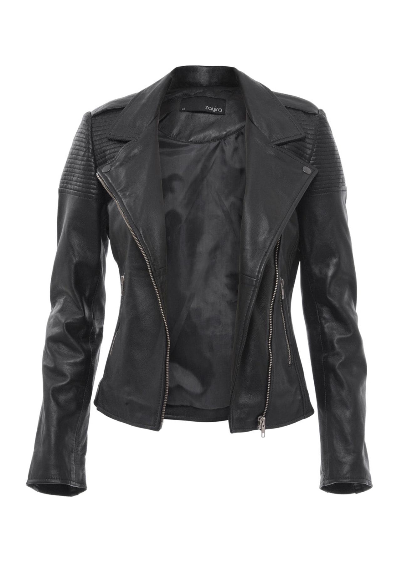 Zayira Moto Moto Leather Jacket - Black