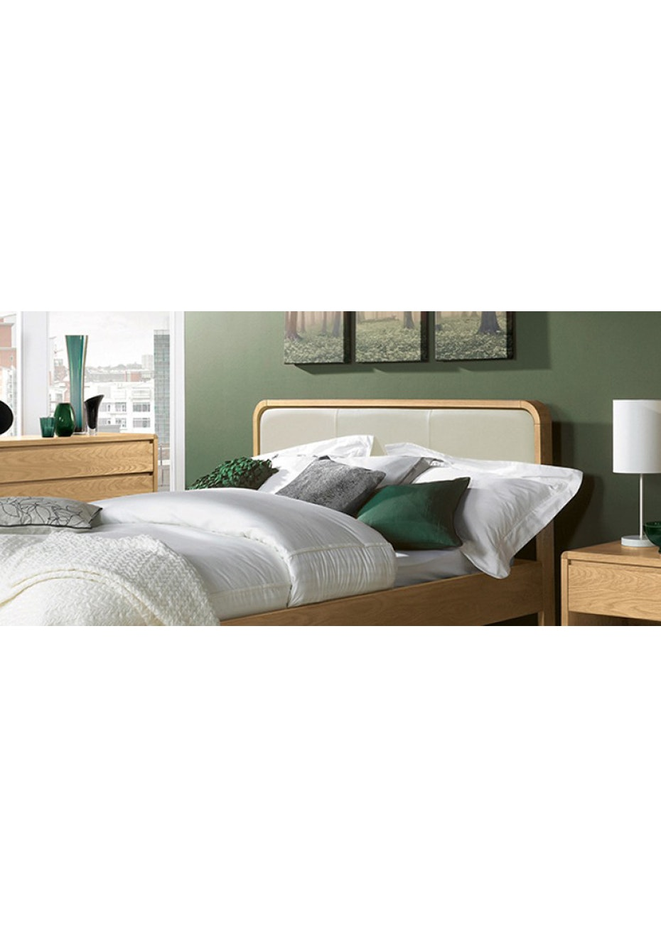 Furniture By Design - Capri Oak Queen Bed- Light Oak