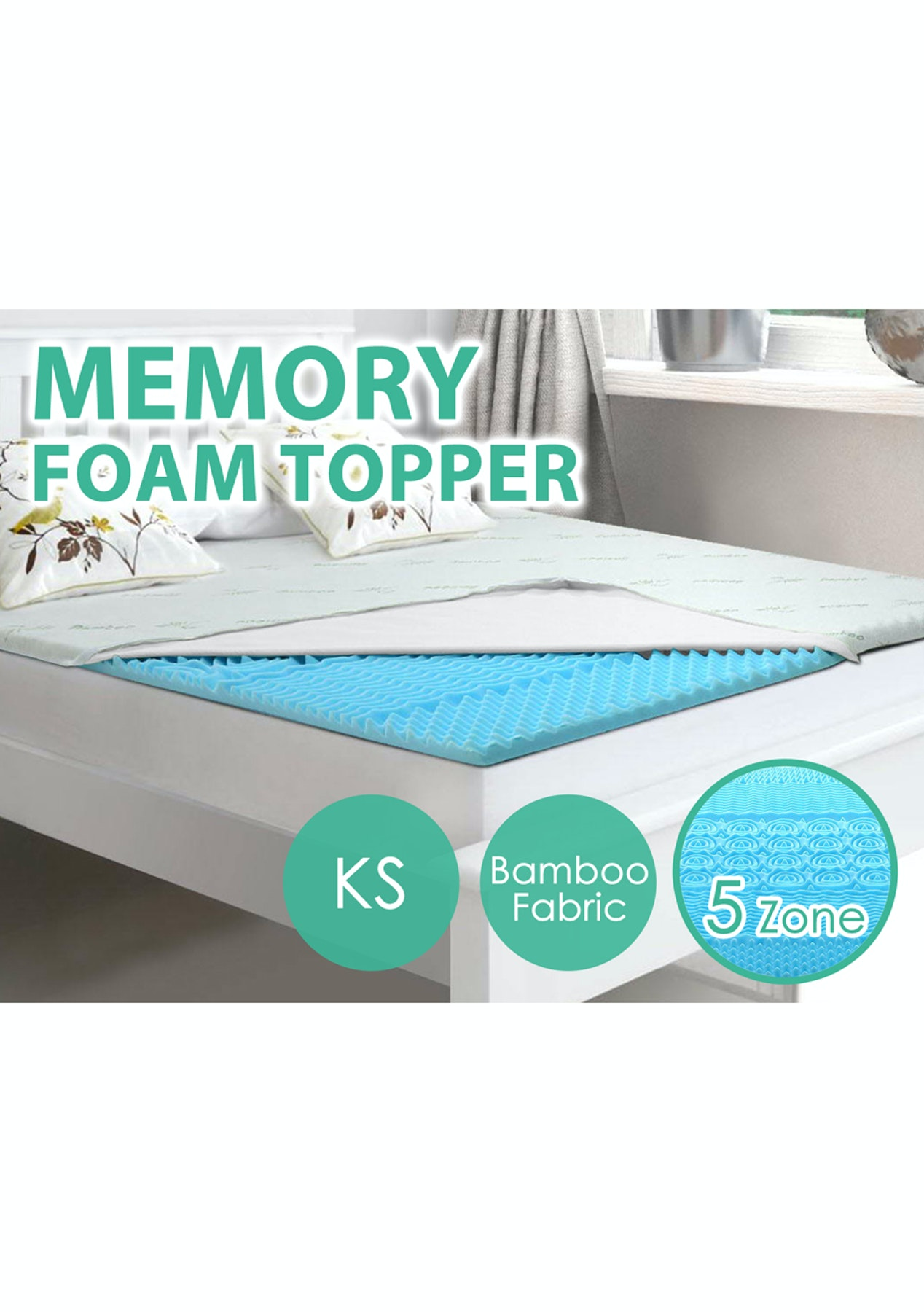 competitive price de443 9ee4a Memory Foam Mattress Topper 5Cm - King Single