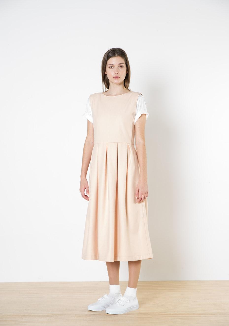 Twenty-Seven Names - Ava Wool Dress - Peach