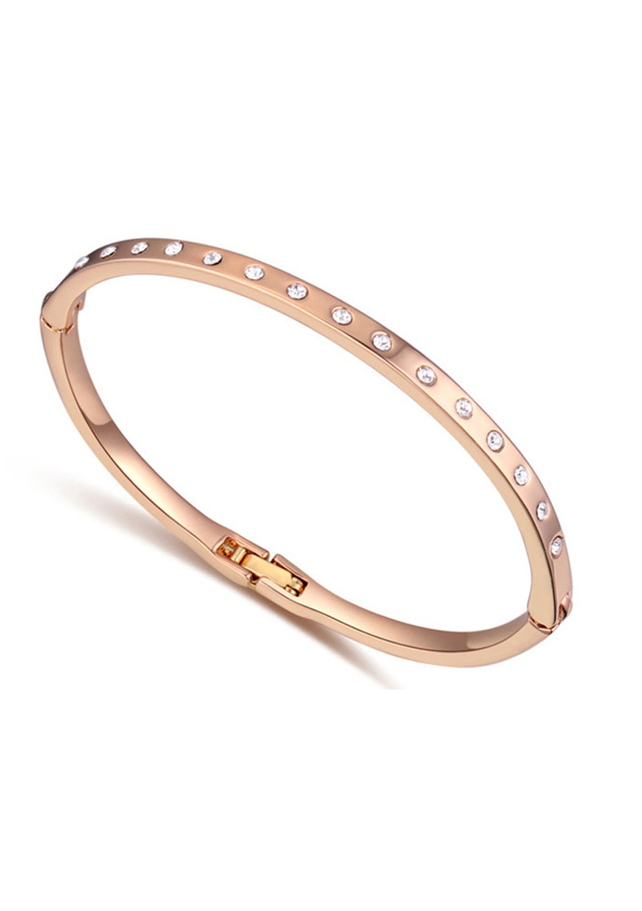 Classic Bangle Embellished with Crystals from Swarovski -G