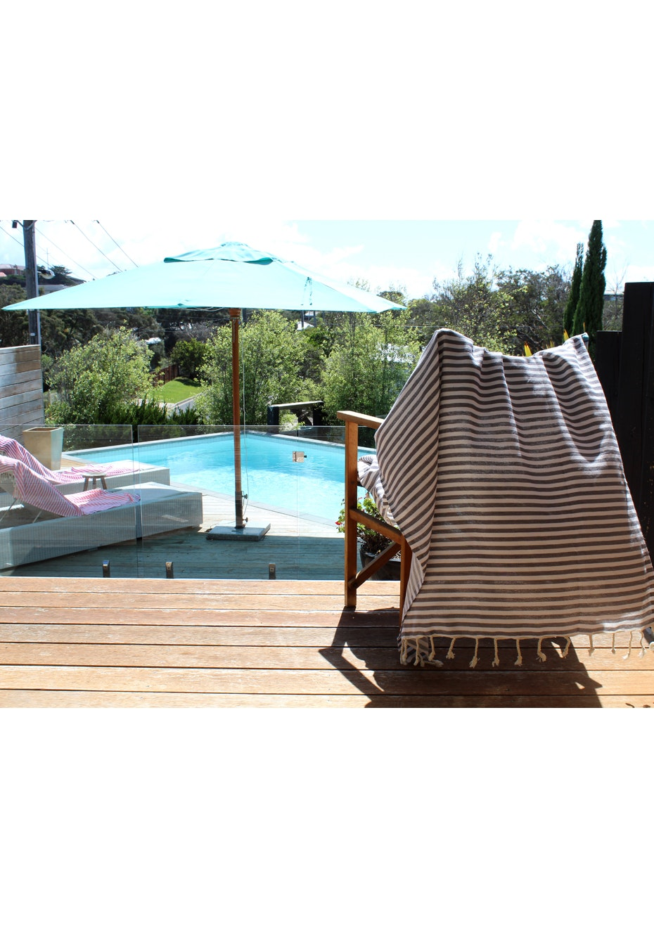 Mediterranean Dark Grey Turkish Towel