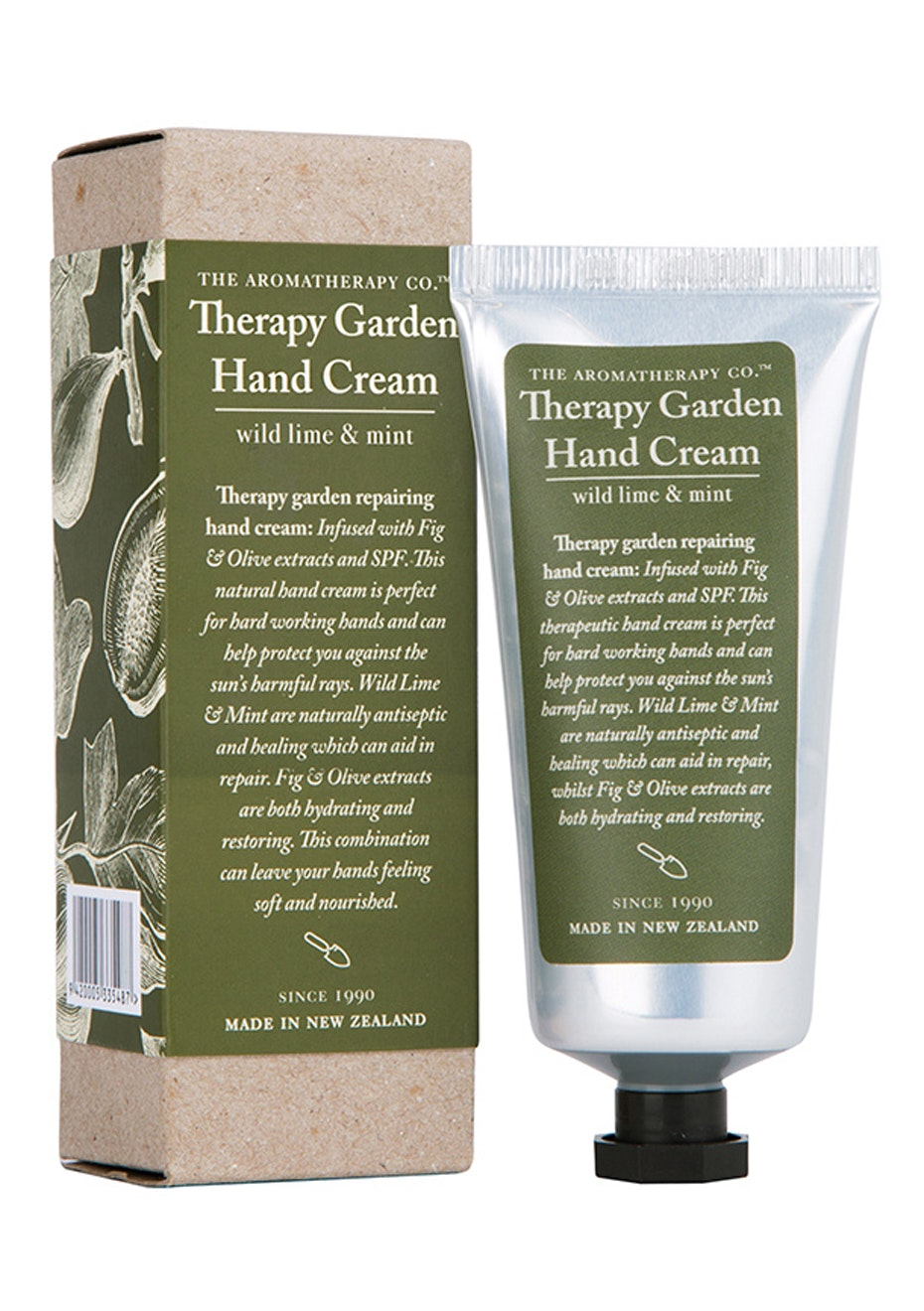 The Aromatherapy Co. Therapy Garden Hand Cream - Wild Lime & Mint with Fig & Olive Extracts - 75ml