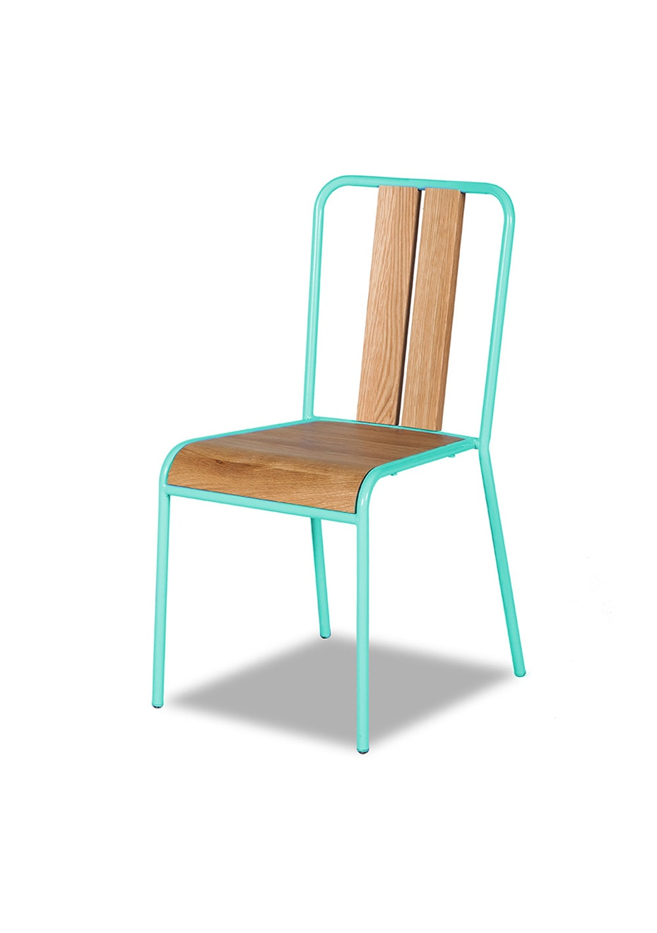Furniture By Design - Manhattan Chair - Oak and Turquoise