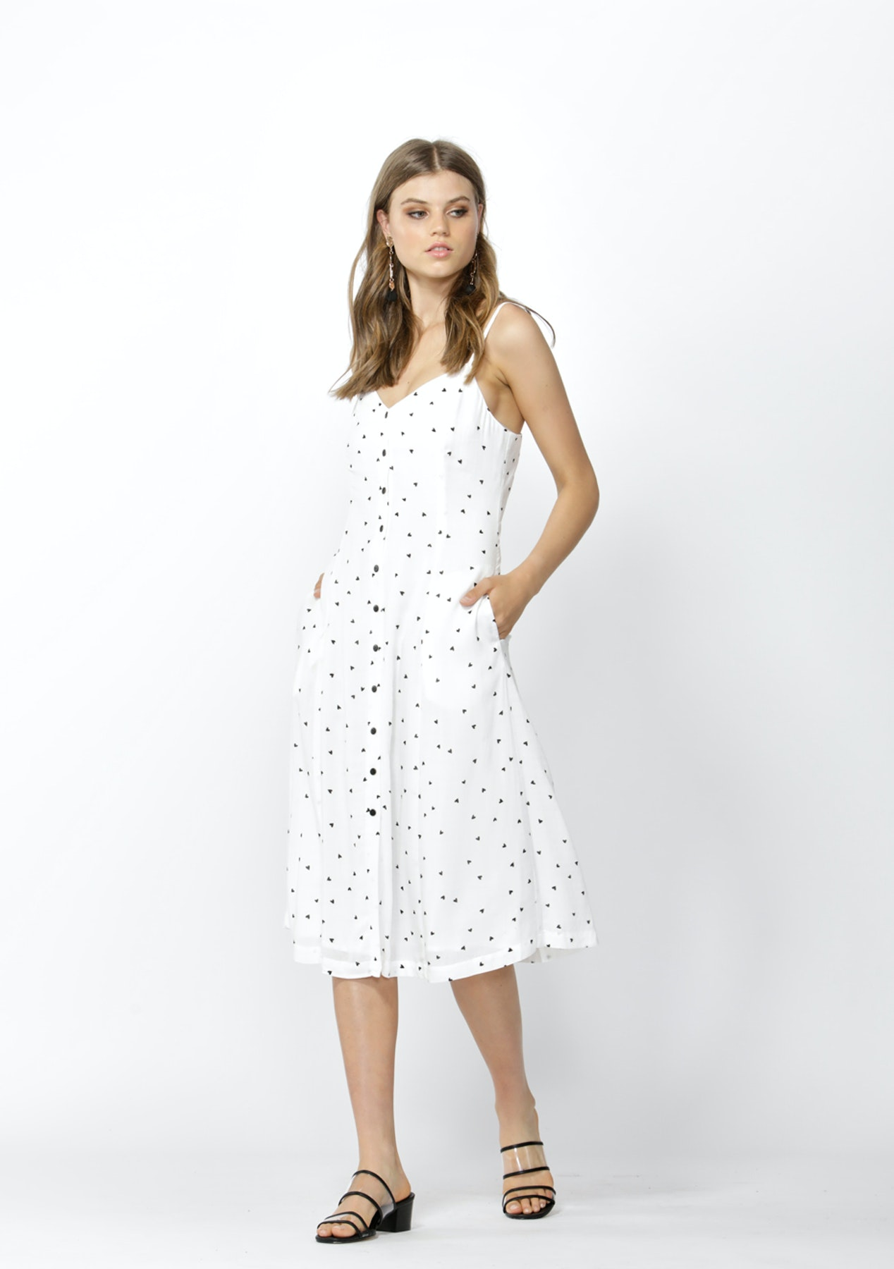 da0f04002be51 Sass - Floating Hearts Slip Dress - Floating Hearts Print