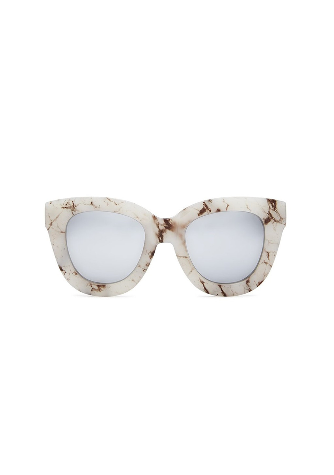 3f9fa18c6151e Quay - Sugar And Spice - White Marble   Silver Mirror - Eyewear   Accessory  Reductions - Onceit