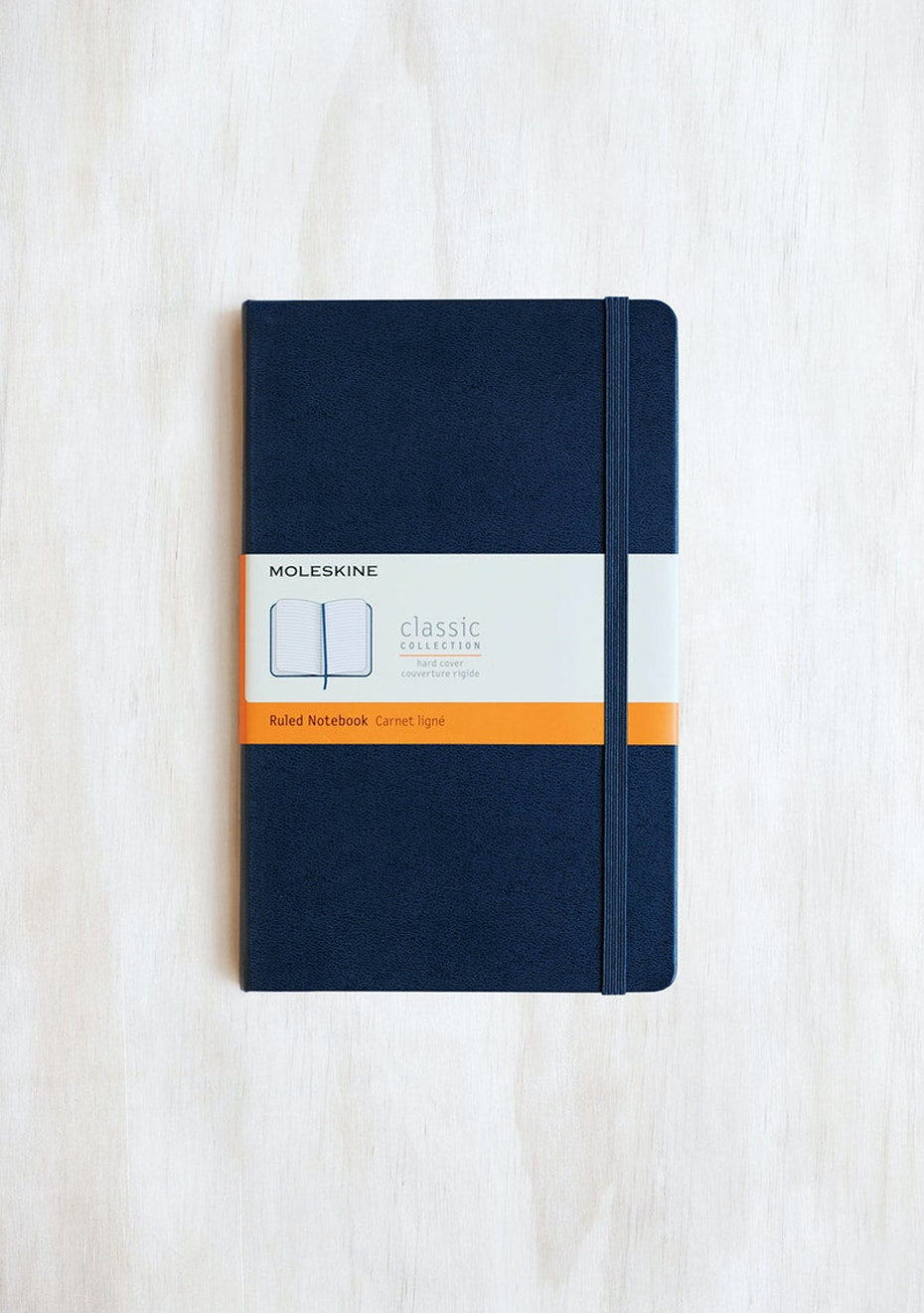 Moleskine - Classic Hard Cover Notebook - Ruled - Large - Sapphire Blue