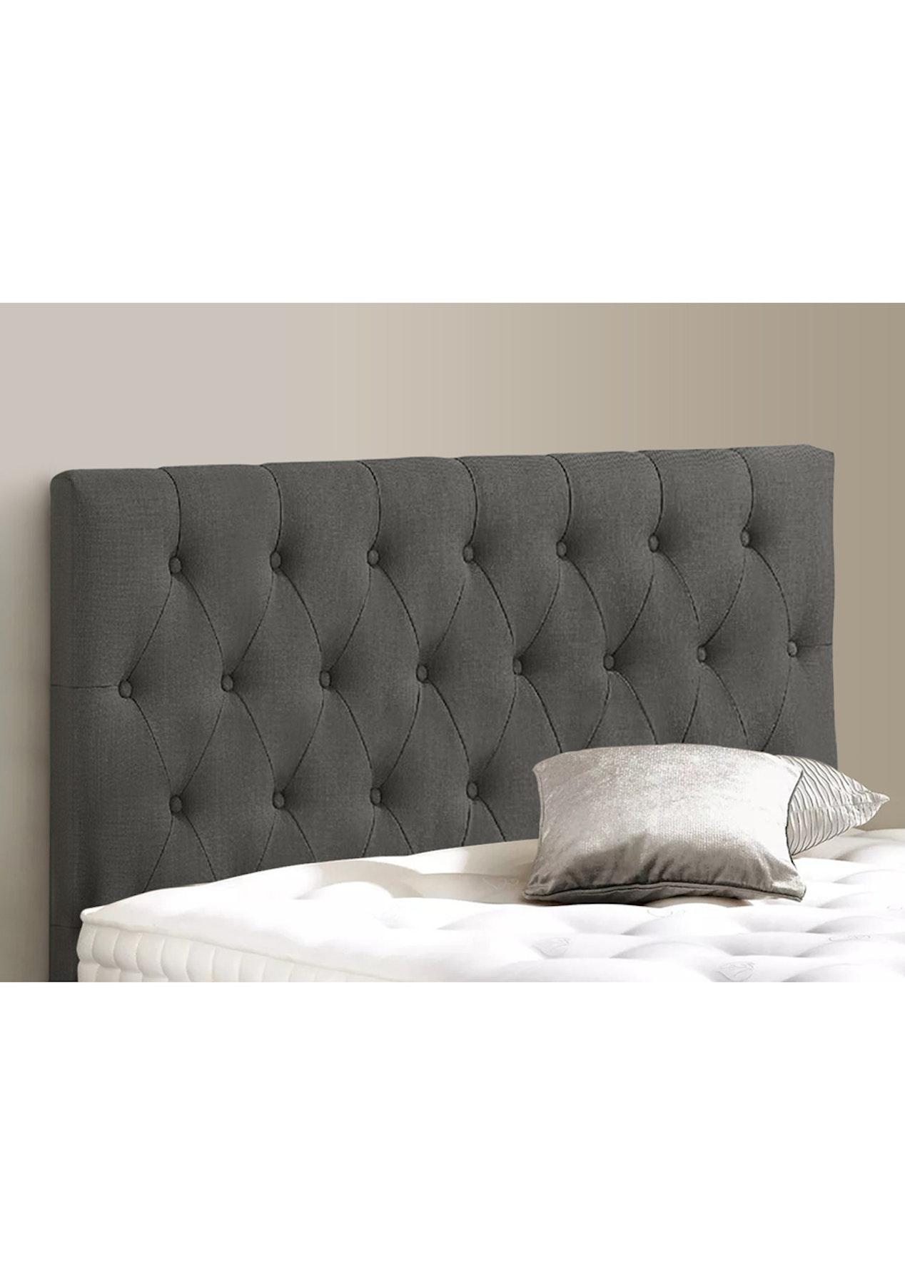 Linen Headboard Queen Grey