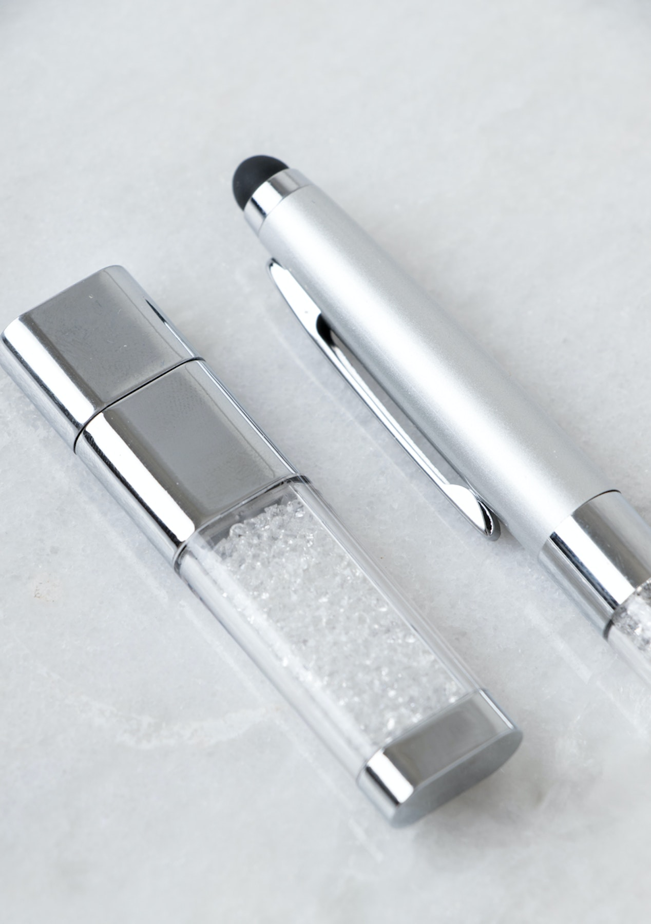 35c226e0e Swarovski Crystal Pen With USB Set - Silver - Free Shipping Jewellery -  Onceit