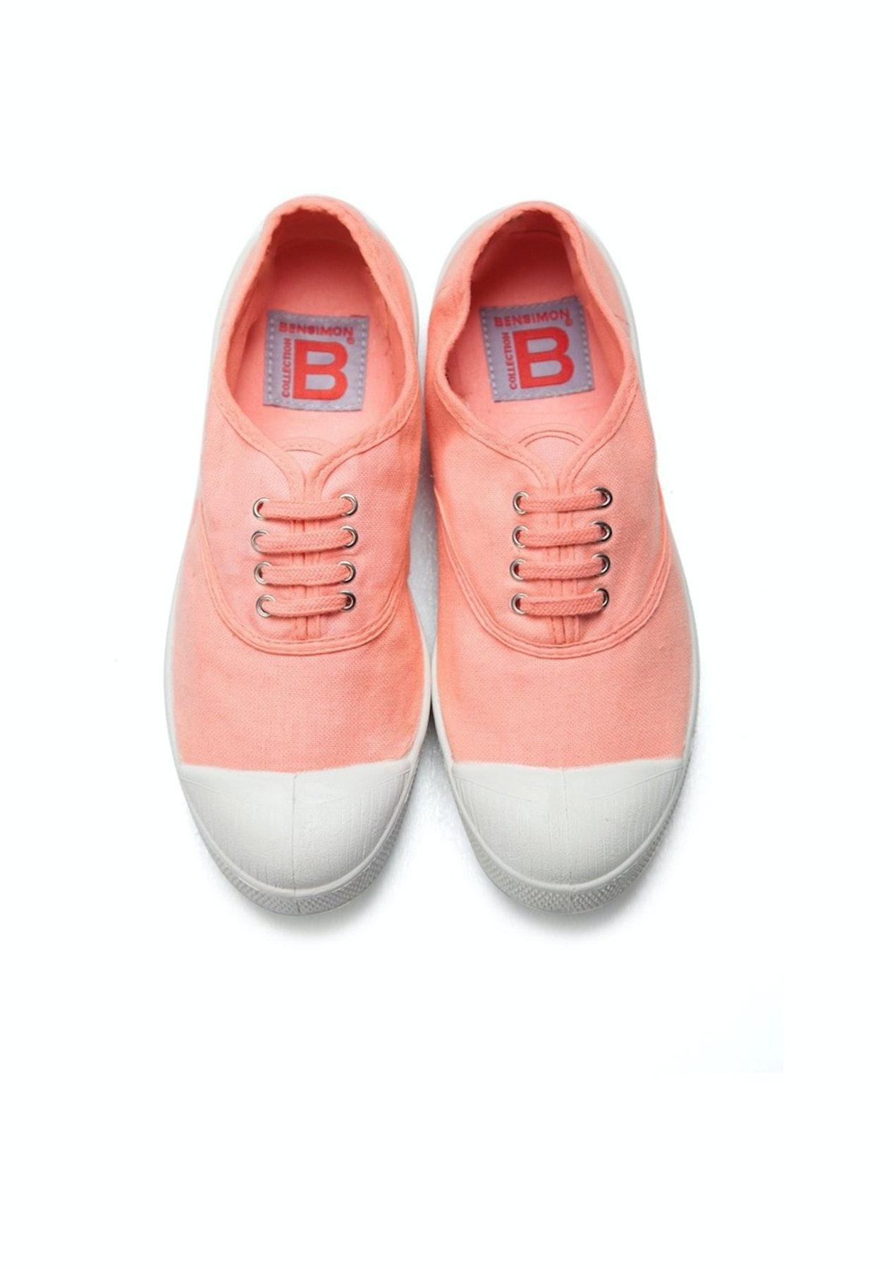 3c51db276 Bensimon - Tennis Lacet Femme - Coral