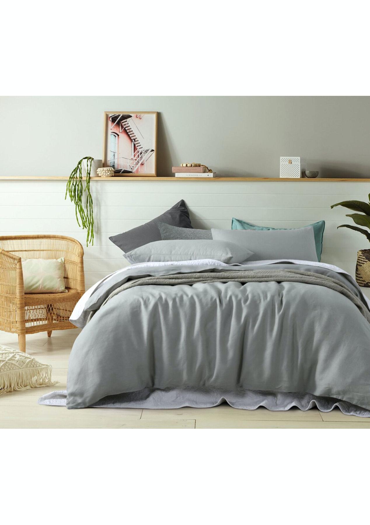 duvet quantiply ikea twin check decor grey co covers linen cover inside
