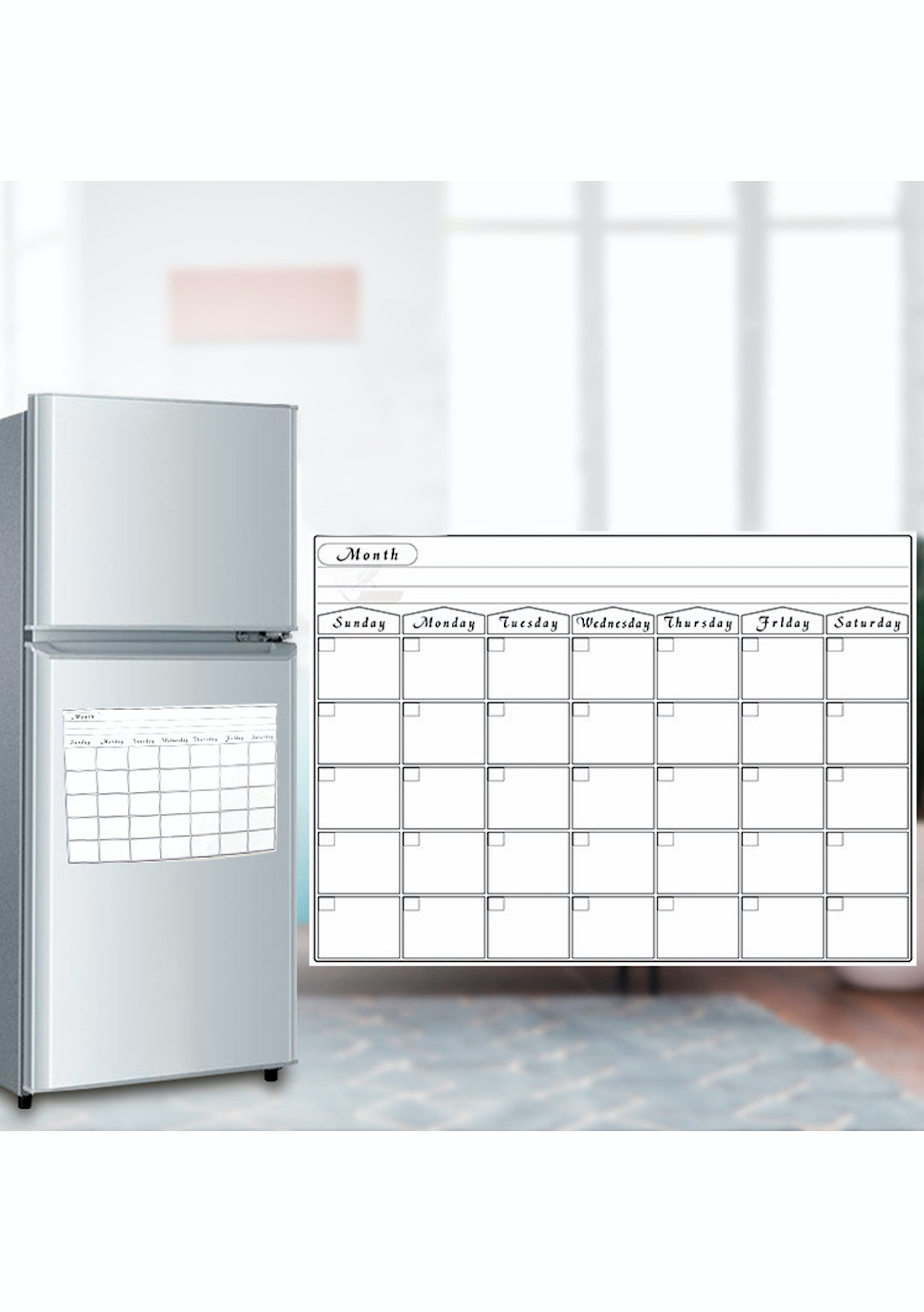 Magnetic Dry Erase Calendar Monthly Board For Fridge 10 At 10pm