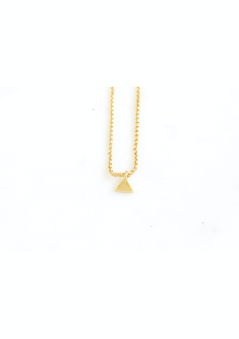 Triangle Necklace  - Gold Plated