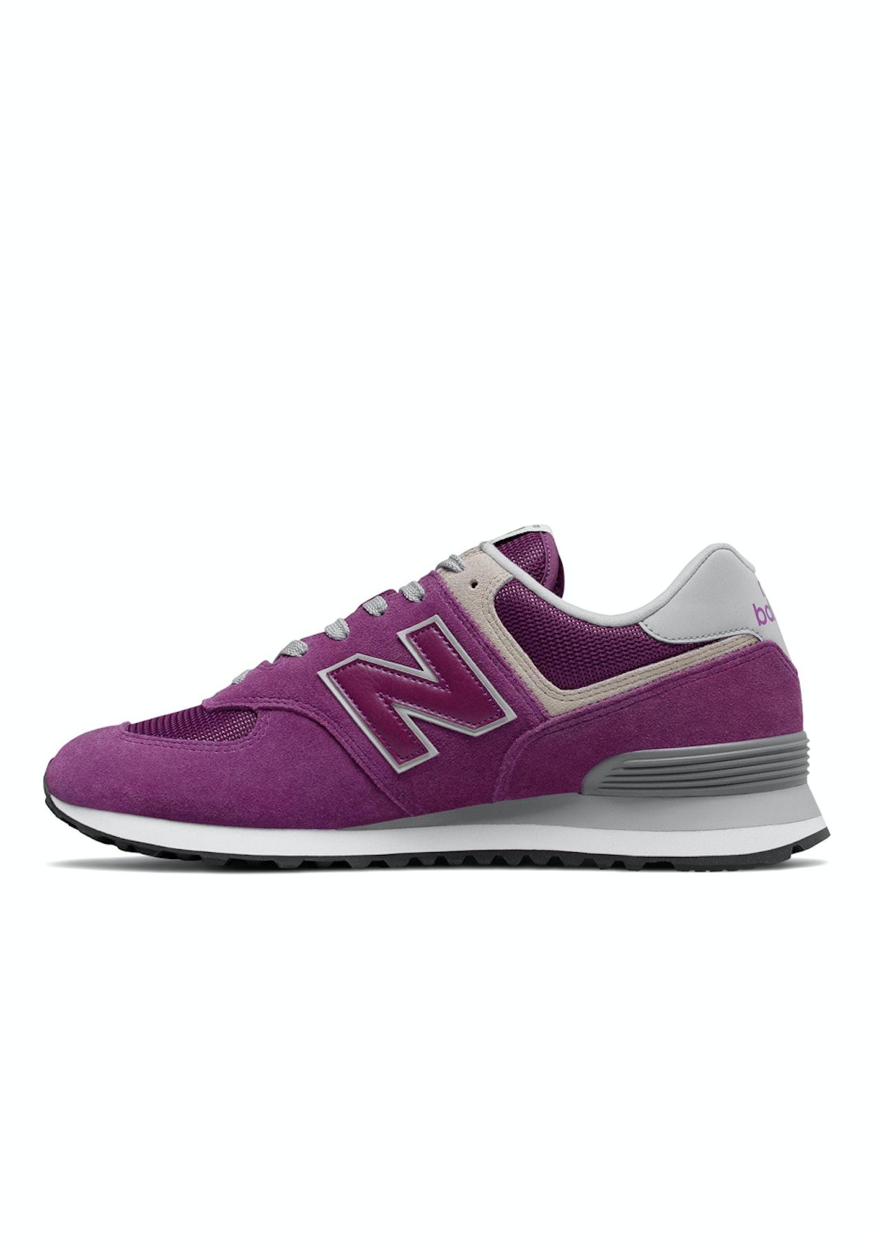 d02169cd66ffb New Balance - Mens 574 - Purple   White - Puma   New Balance Flash Sale -  Onceit