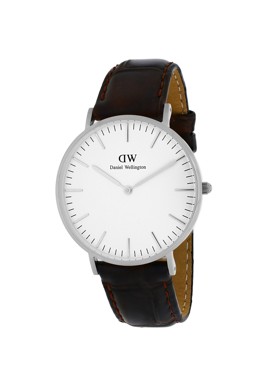 Daniel Wellington Women's Classic York - White/Dark Brown