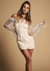 8a3511516be Lioness - Lace About You Mini Dress - White