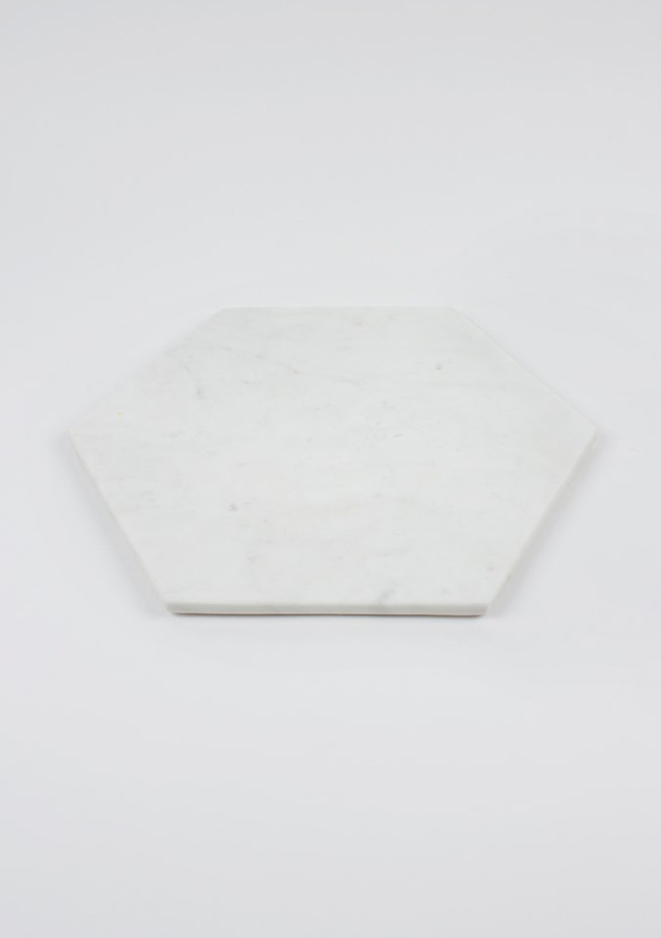 Nest - White Marble Hexagon Board Medium