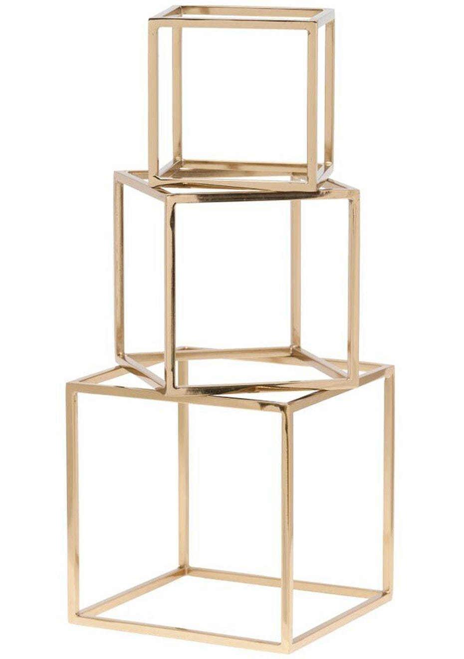 General Eclectic - Set of Cubes Brass