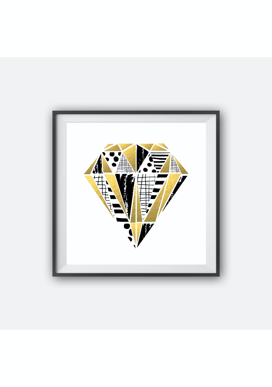 Simply Creative - Diamond - Gold Foil Print