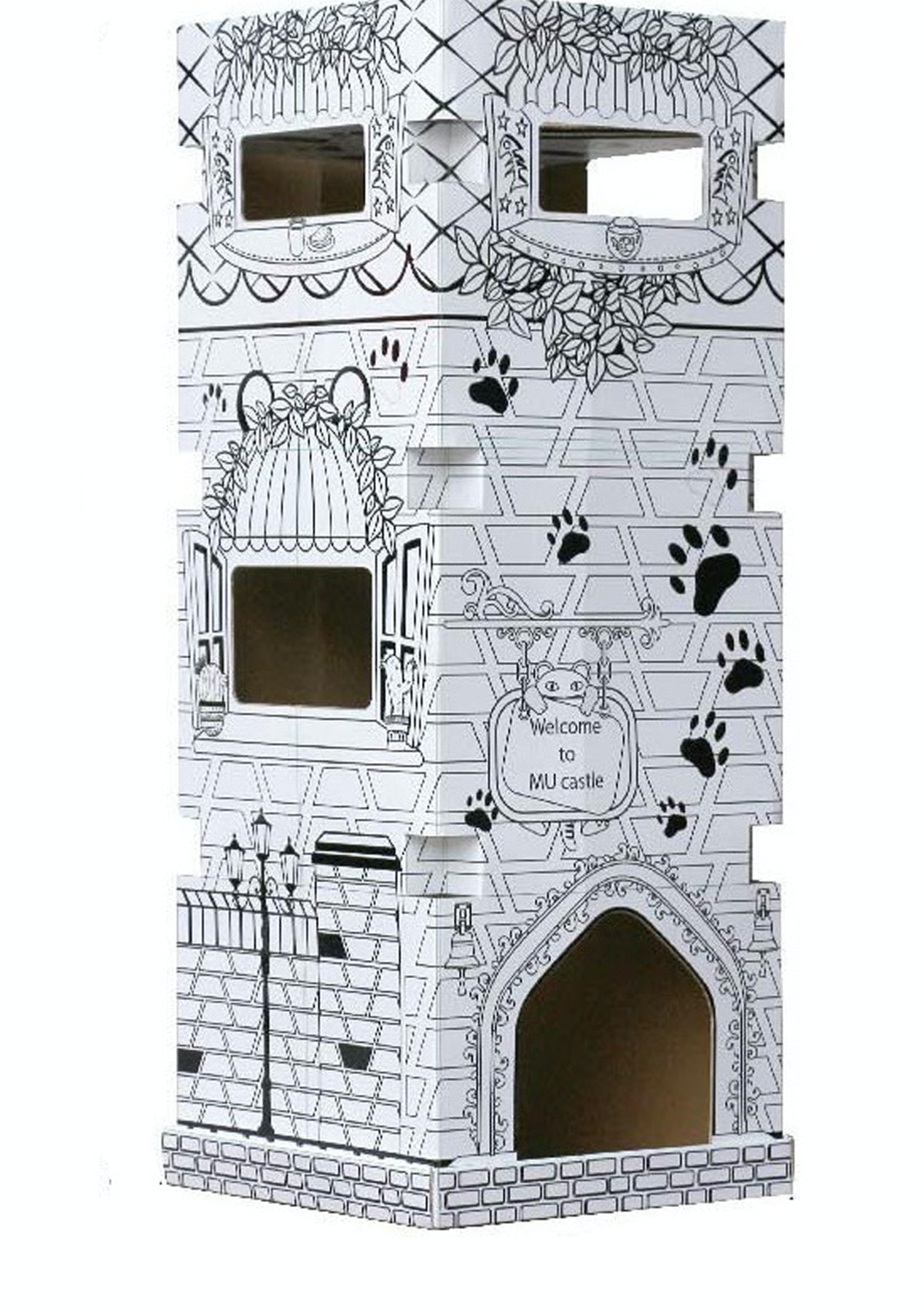Coloring Cardboard Playhouse - The Cat Castle - Kids Holiday Boredom ...