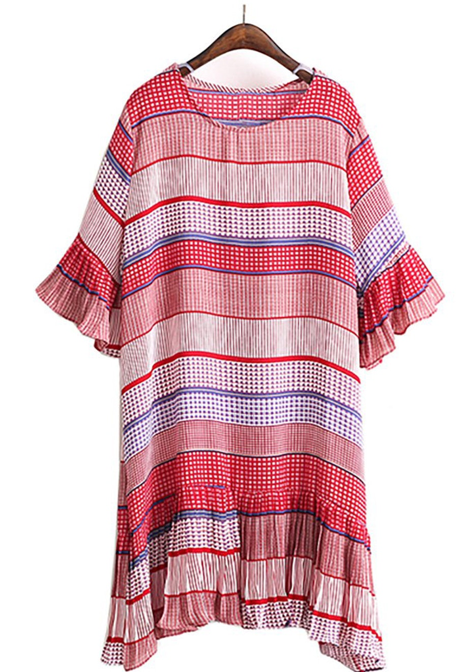 Indiana Dress - Red Multi