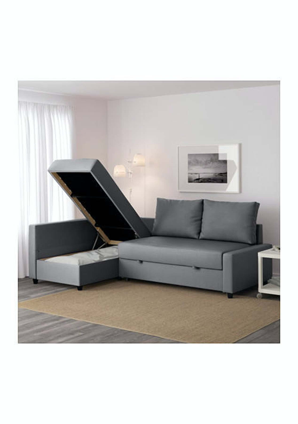 Strange Ikea Friheten Corner Sofa Bed Skiftebo Dark Grey Ibusinesslaw Wood Chair Design Ideas Ibusinesslaworg
