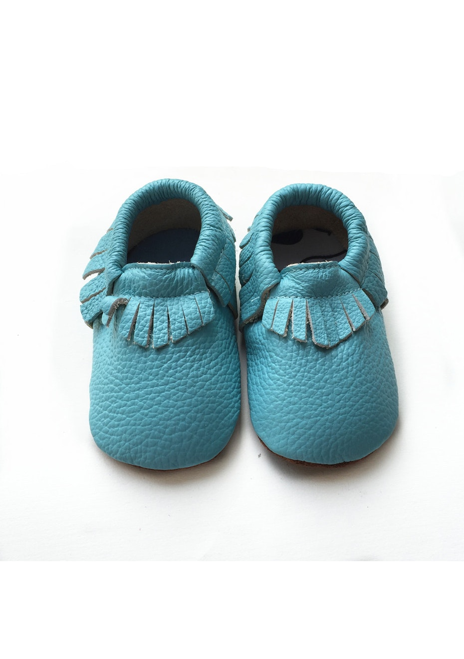 Baby  Leather Shoes - Sea Blue