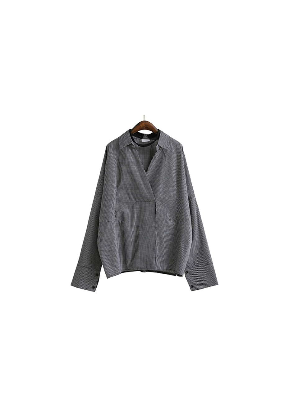 Cathy Shirt  - Dark Grey  Check