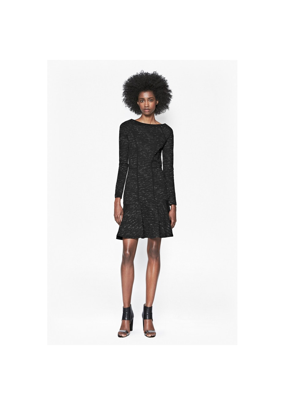 French Connection - Pepper Jersey Dress - Black Space Dye