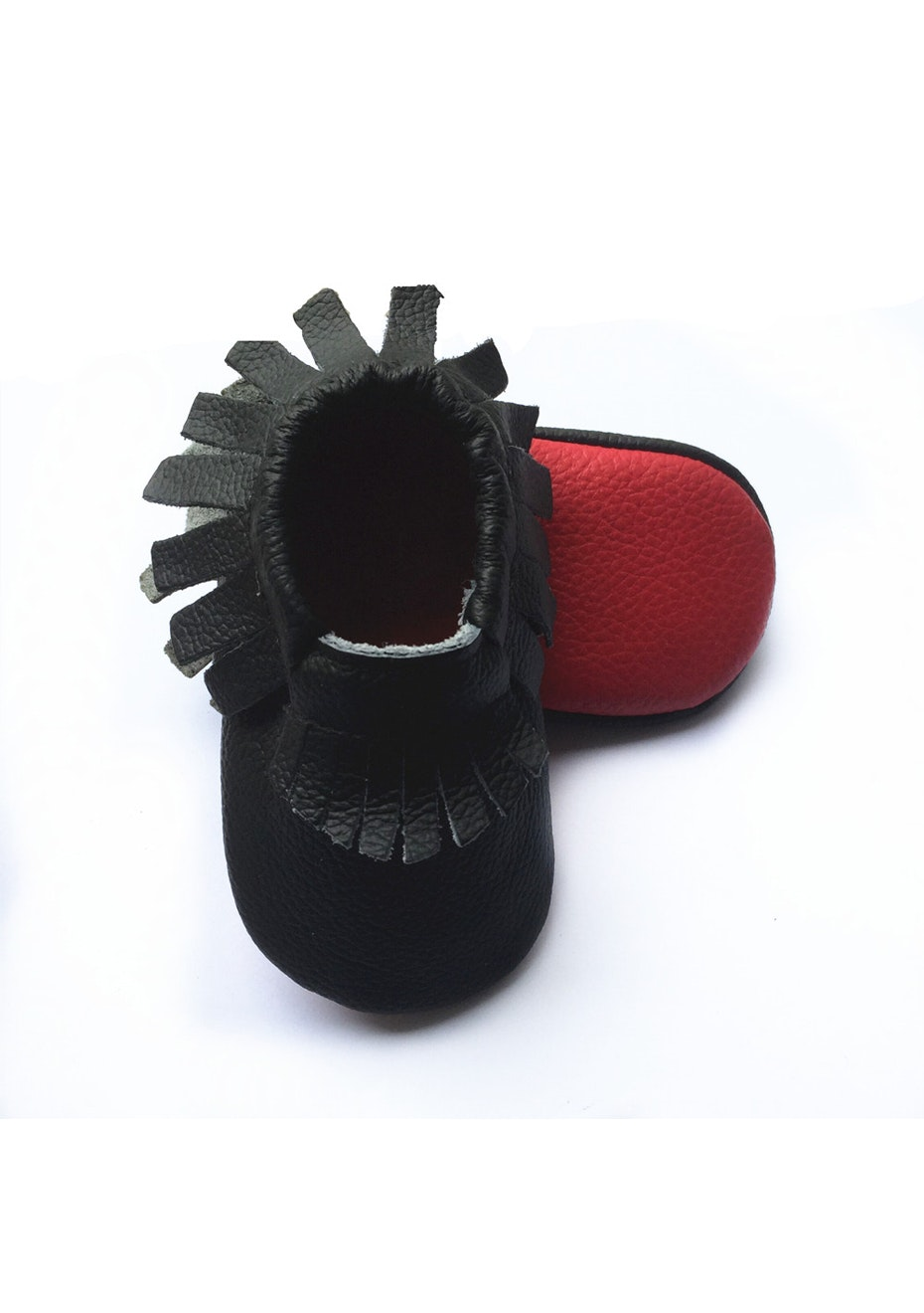 Baby  Leather Shoes - Black/Red