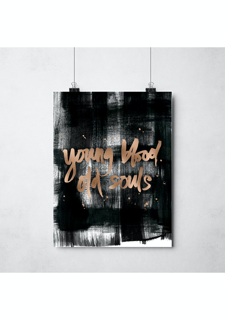 Simply Creative - Young Blood - A3 Copper Foil Print