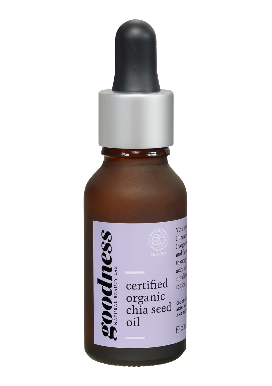 Goodness - Certified Organic Chia Seed Oil (20ml)