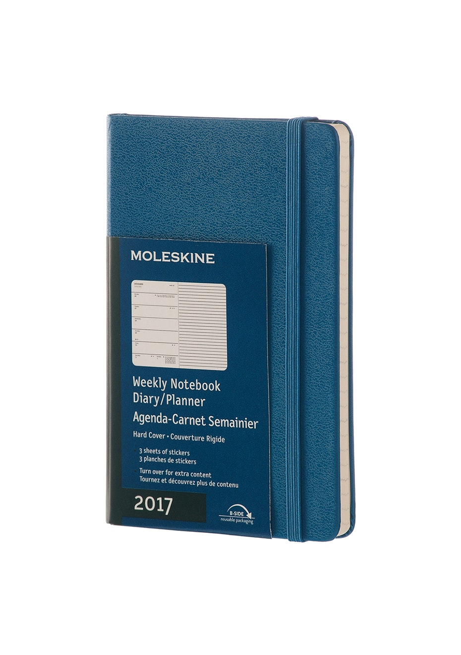 2017 Hard Cover Diary - Weekly Notebook - Steel Blue