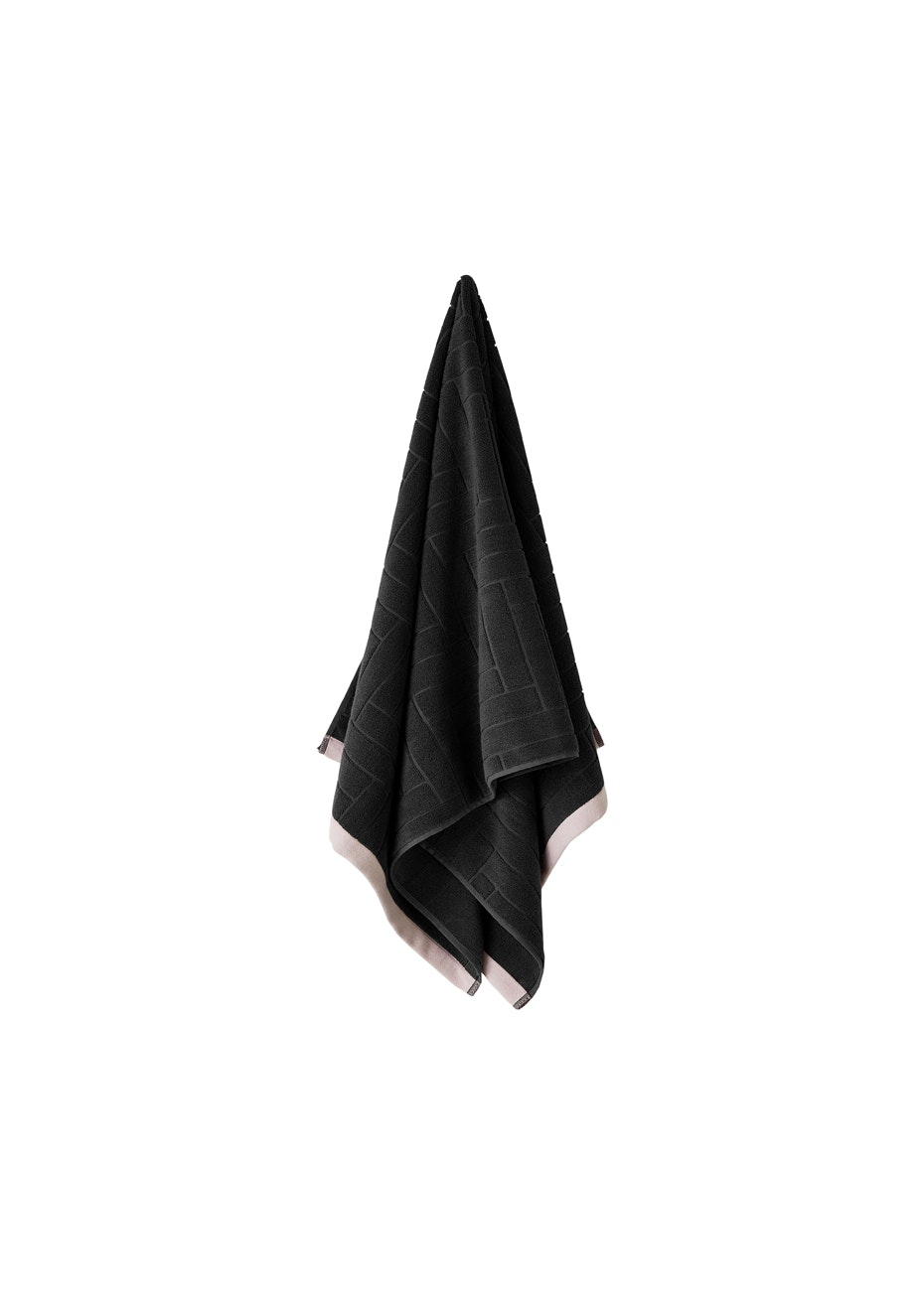 Aura Parquet Bath Towel 700 X 1400Mm Charcoal