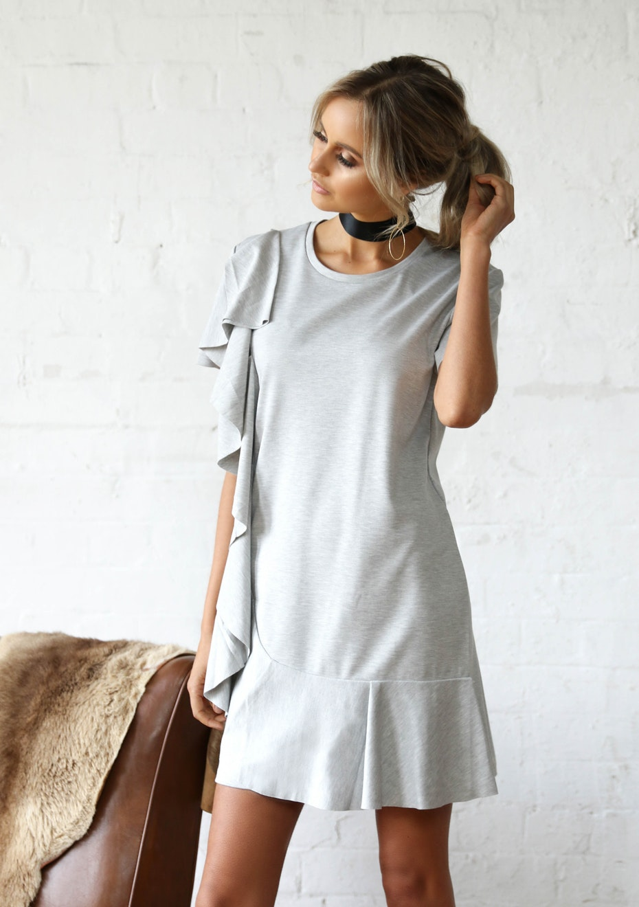 Madison - SLOW DANCE TEE DRESS - GREY