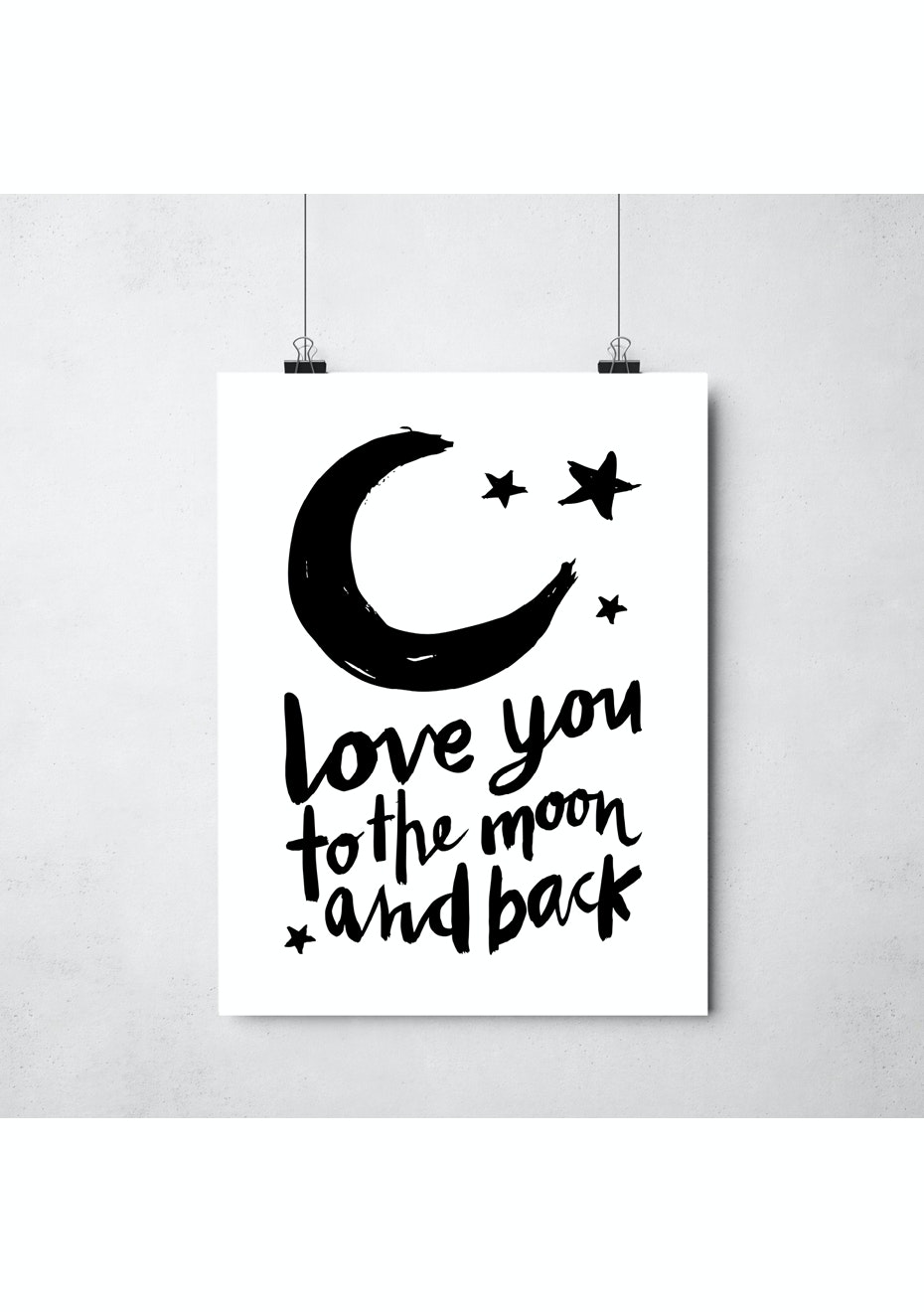Simply Creative - Moon And Back - A3 Colour Print