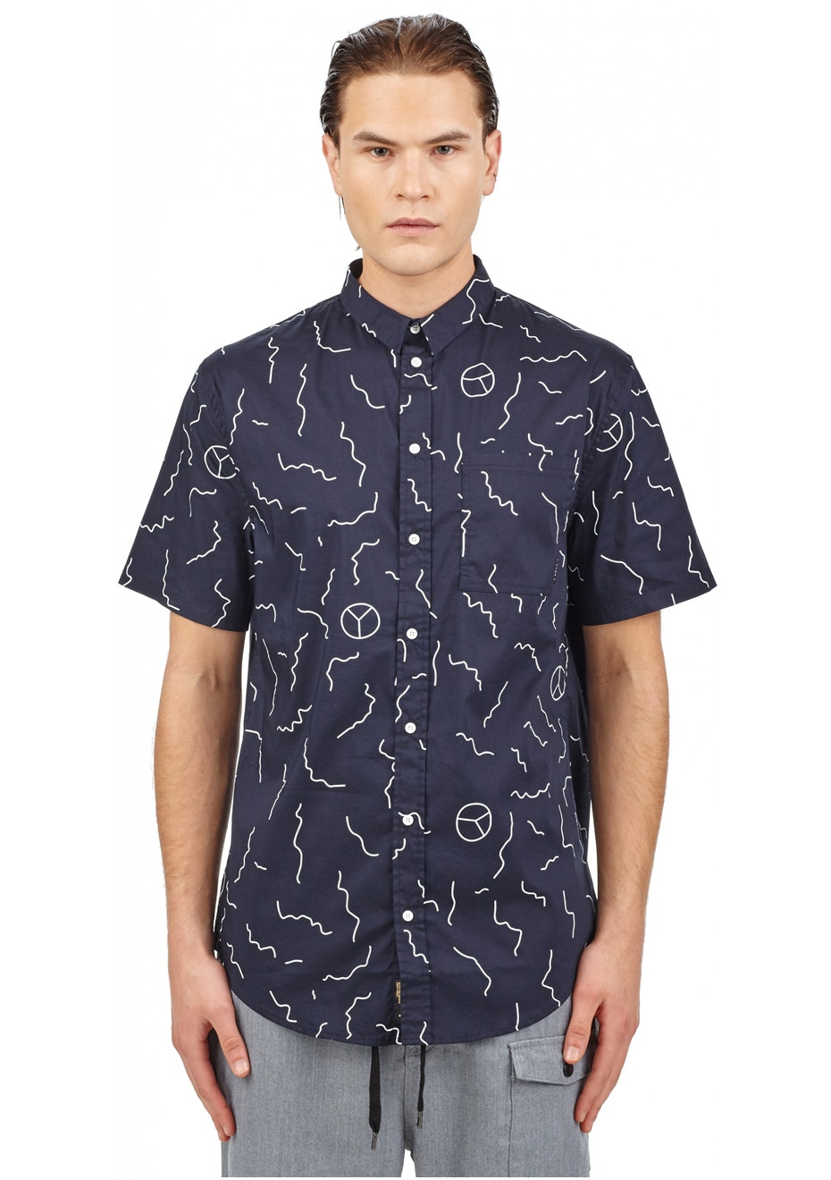 I Love Ugly - Mistake Ss Shirt - Navy