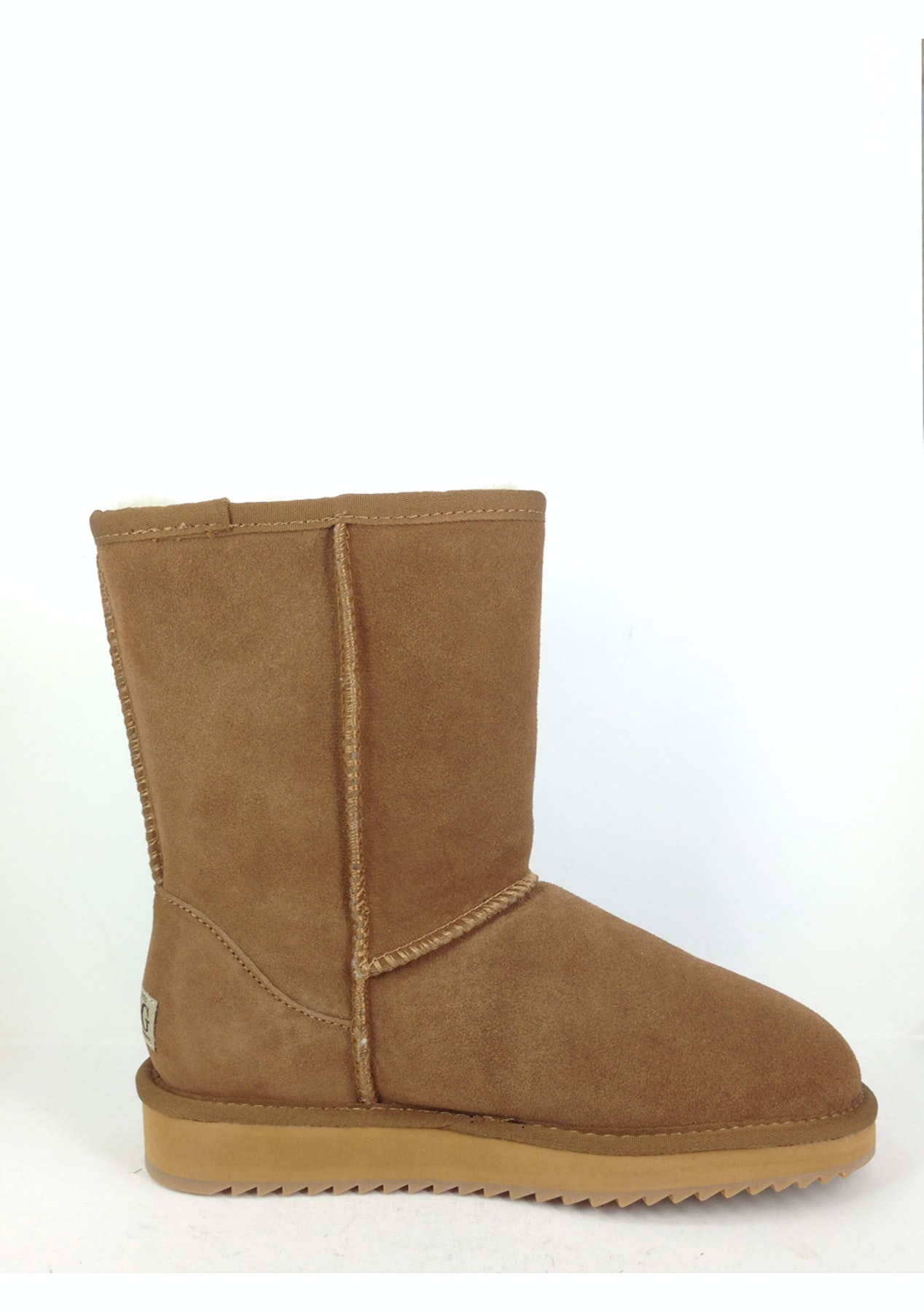 87c6b2445d2 OzNatives - Classic Short Water-Resistant Suede Leather - Chestnut