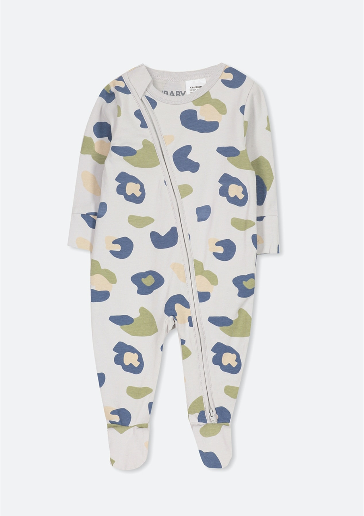 big discount of 2019 beautiful in colour detailed look Cotton On Baby - Mini Zip Through Romper/Winter Grey/Blue Camo