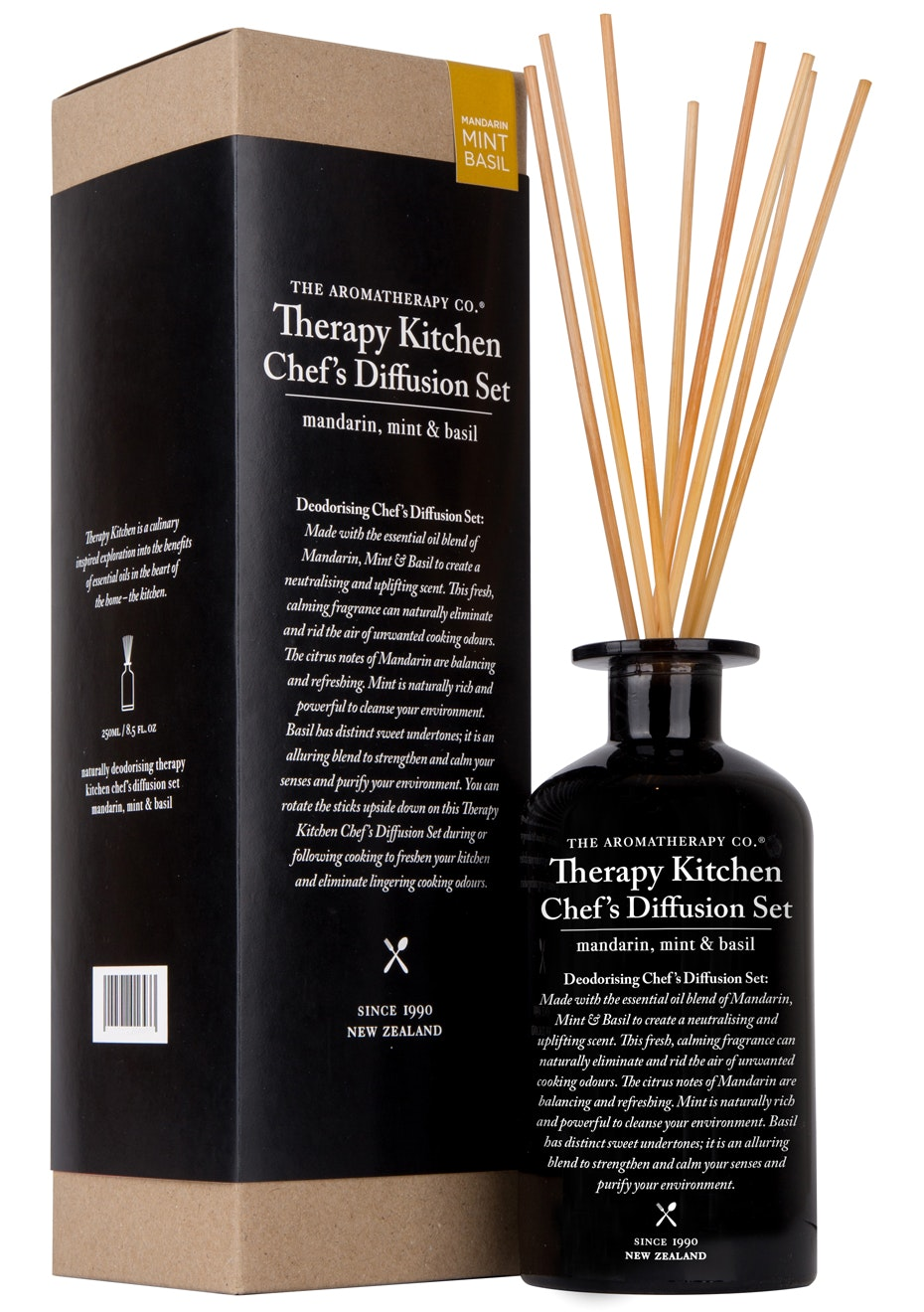 The Aromatherapy Co. Therapy Kitchen Chef's Diffusion Set - Mandarin, Mint & Basil