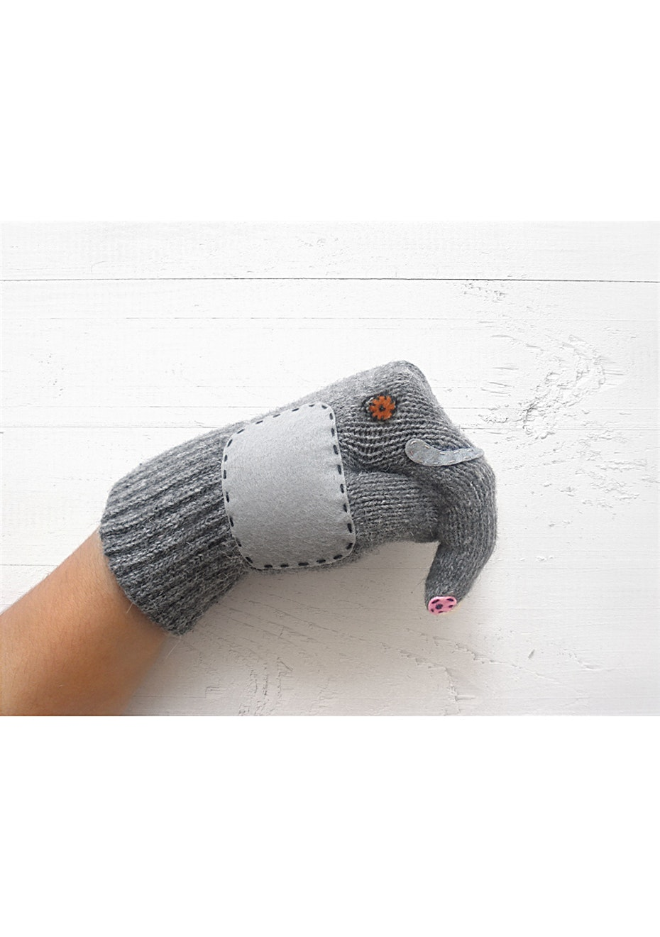Elephant Gloves - Grey