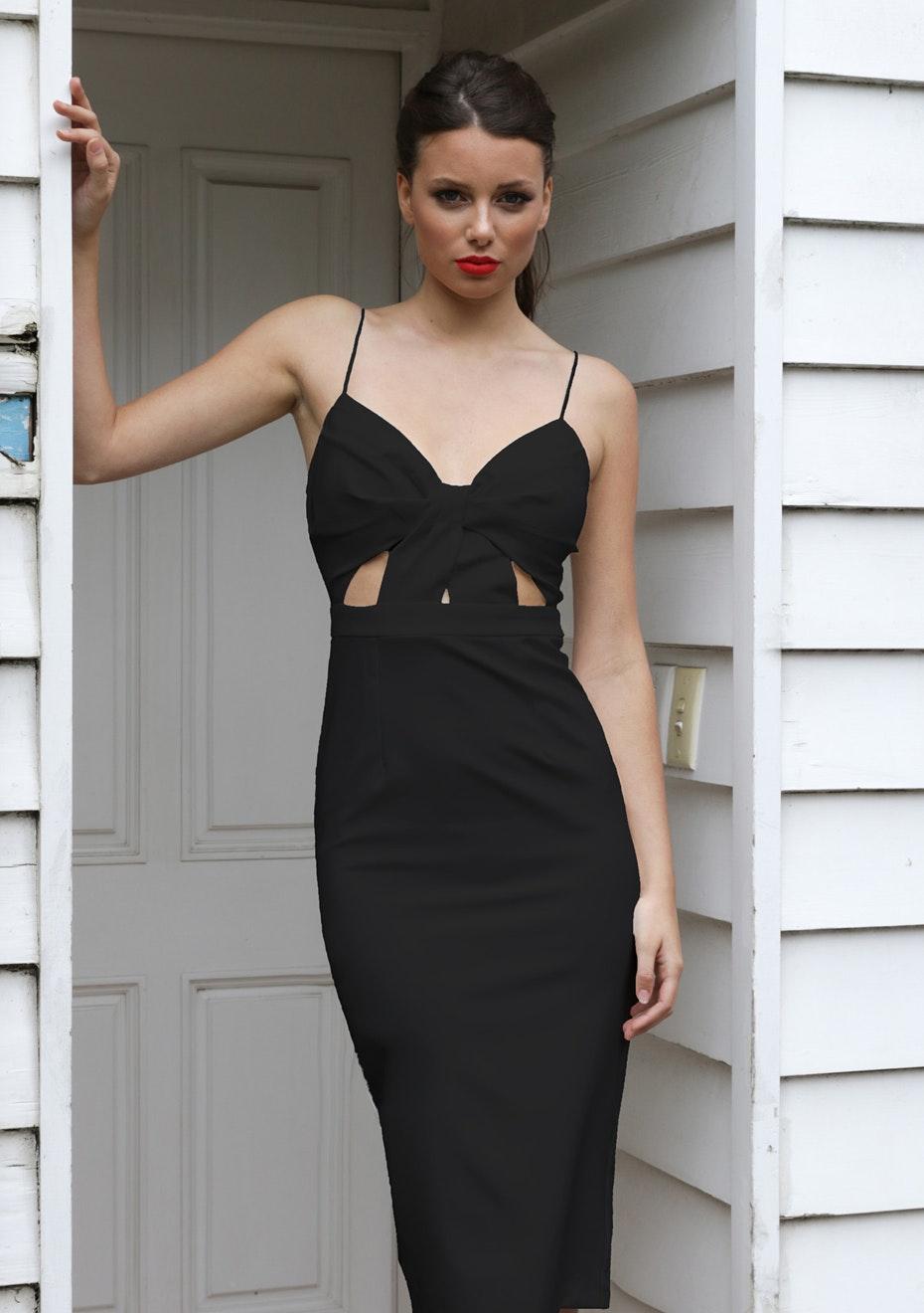 Cut Above The Rest Dress - Black