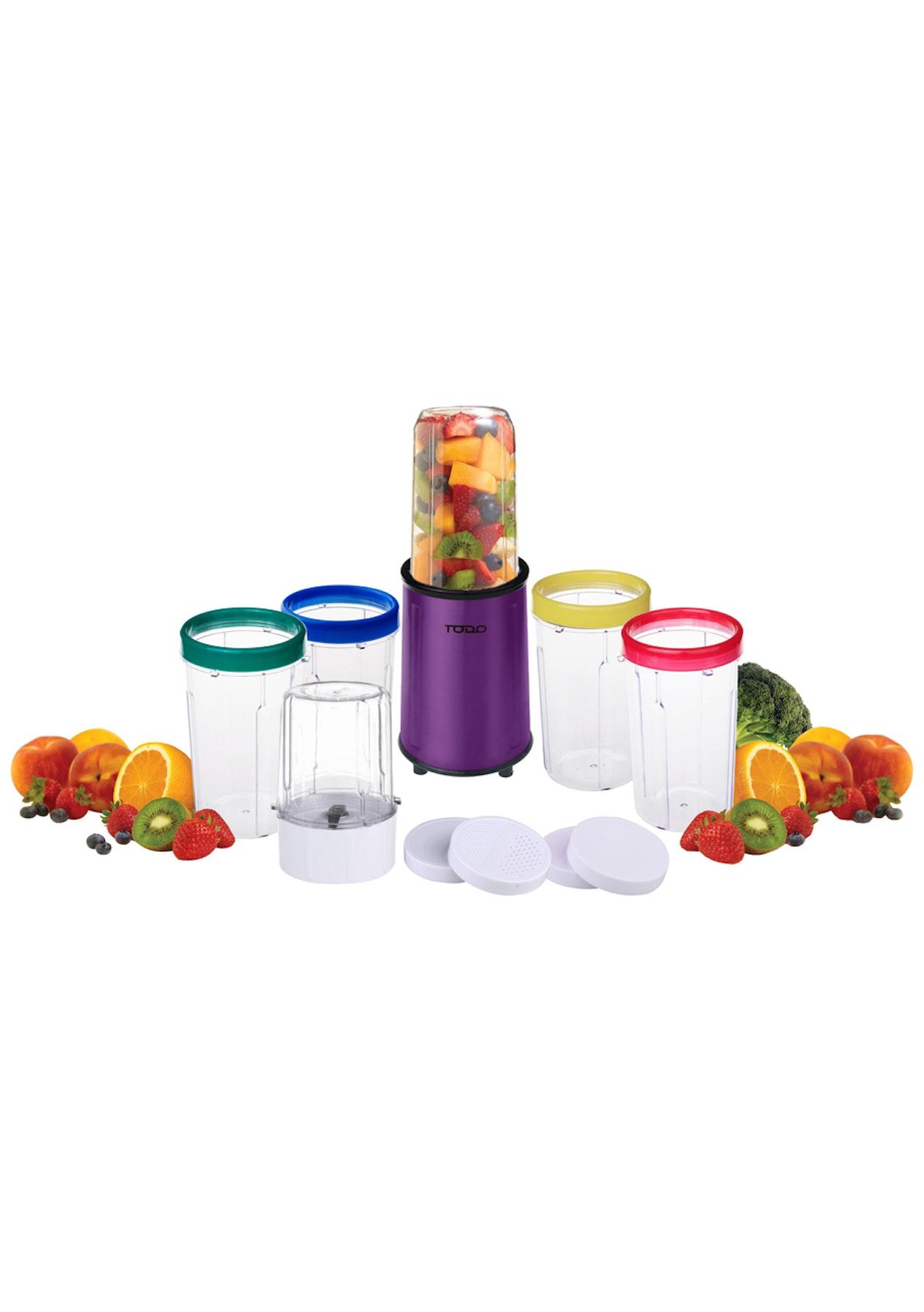 todo 17 pcsstainless steel bullet nutrition blender magic drink