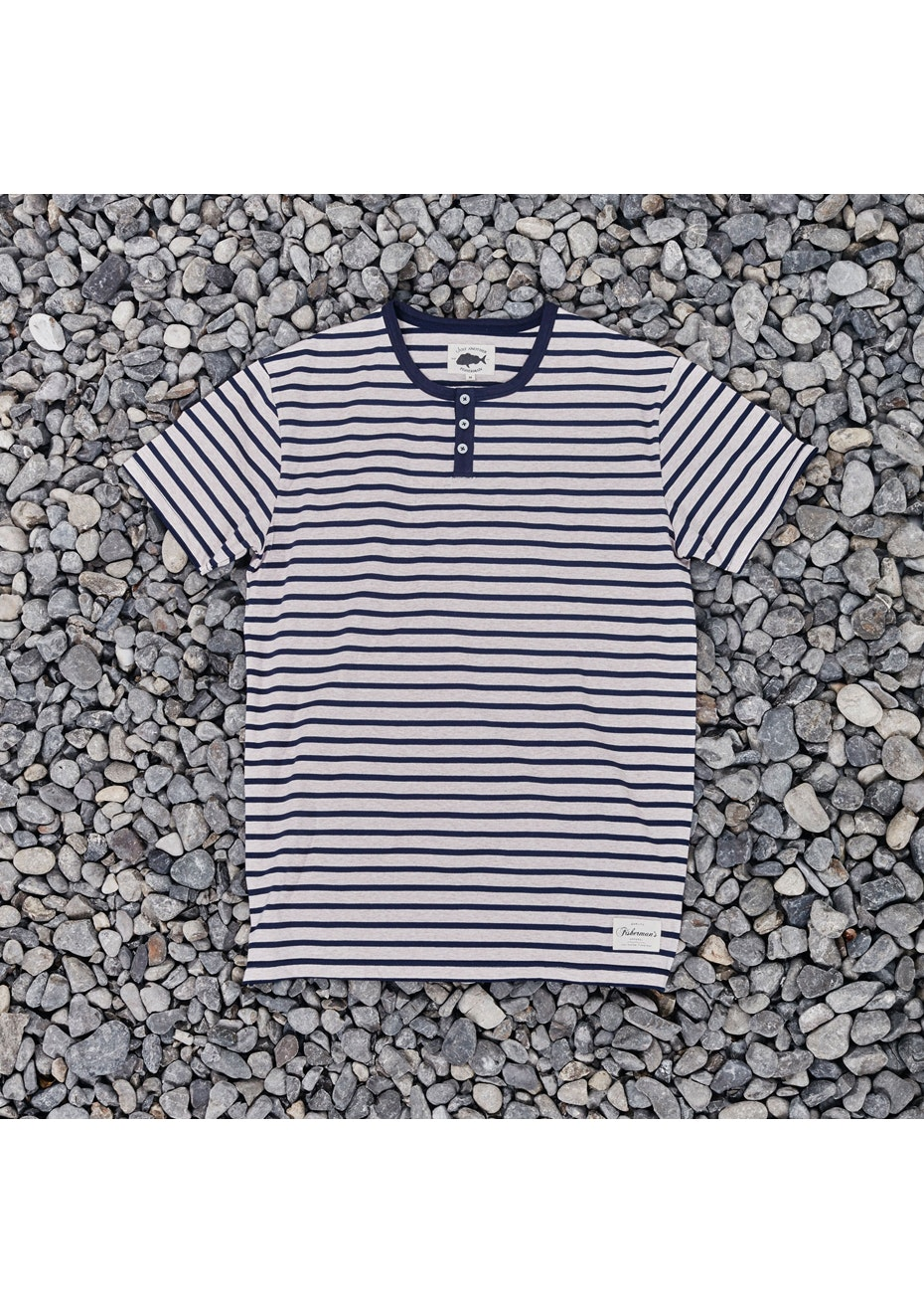 Just Another Fisherman - Mariner Tee- Oatmeal/Navy