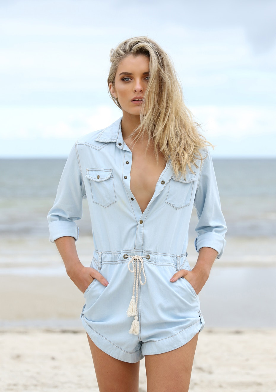 Madison - EN ROUTE ROMPER - CHAMBRAY
