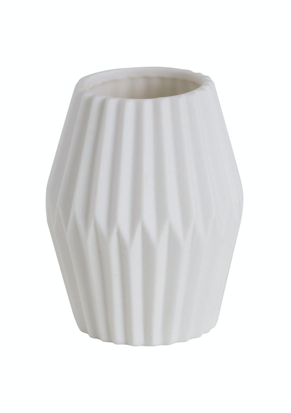 Jason - Lantern Vase - White
